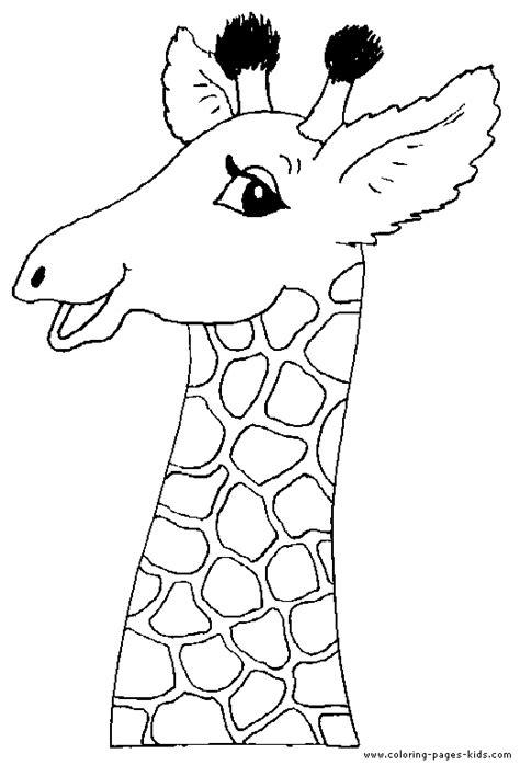 head   giraffe color page