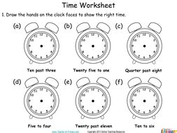 time year 2 powerpoint and worksheets by teacher of