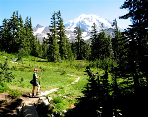 trail rainier mount wonderland park national seattle spray washington hiker hiking hikers state hikes route times around along brian walk