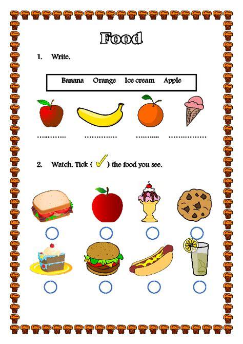 worksheet food