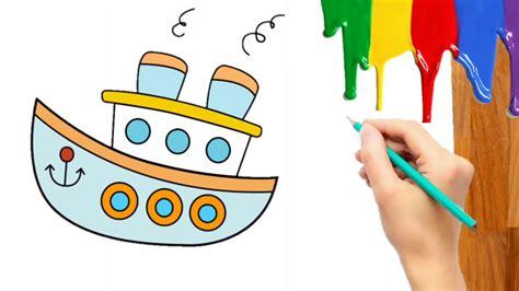 16 gambar kartun kendaraan laut