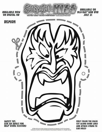 Scooby Doo Mask Printable Halloween Spaceman Kiss