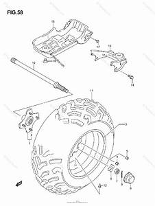 Suzuki Atv 2007 Oem Parts Diagram For Left Rear Wheel