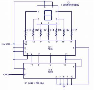 Simple 0 To 9 Display Circuit Using 7 Segment Display By