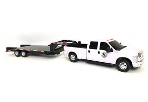 Toy Gooseneck Flatbed Trailer with Truck