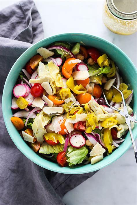 simple italian salad dietitian debbie dishes
