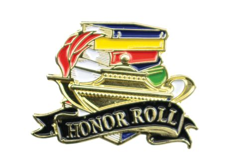 Color Fill Honor Roll Lapel Pin