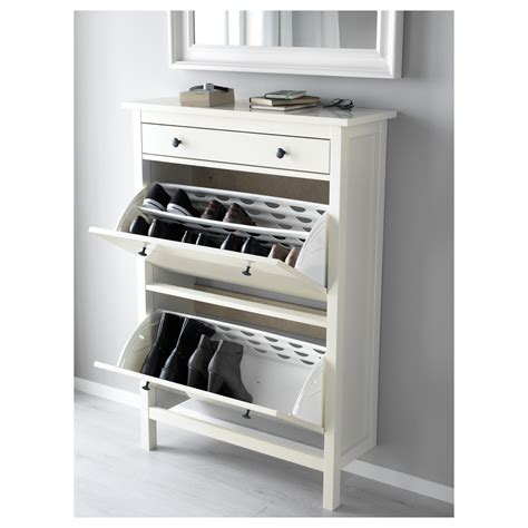 ikea tall shoe cabinet hemnes shoe cabinet with 2 compartments white 89x127 cm ikea