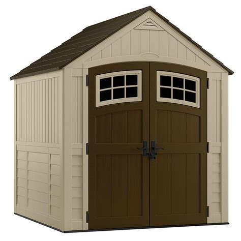 rubbermaid shed 7x7 home depot suncast sutton 7 ft 3 in x 7 ft 4 5 in resin storage