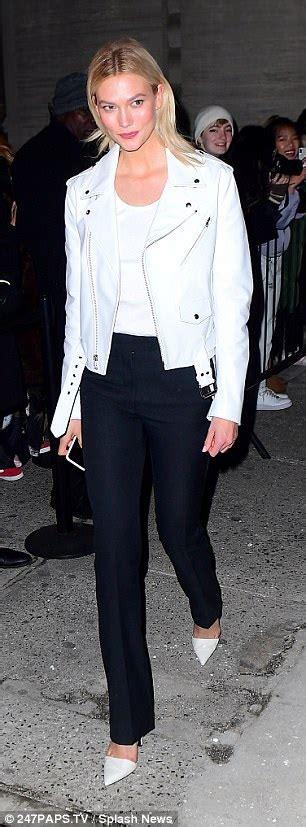 Winnie Harlow Karlie Kloss Wear White Calvin Klein