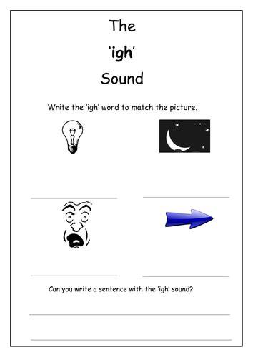 phonics igh sound worksheet by laurenstuart teaching