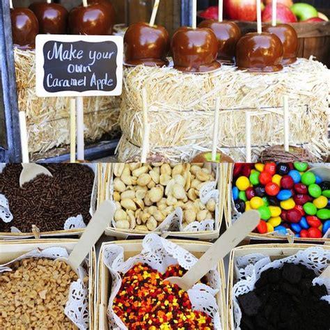Fun Autumn Dessert Station Make Your Own Caramel Apples
