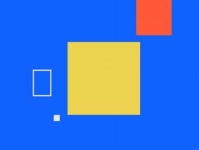 Square Animation Dribbble Vector Motion Shape Aesthetic