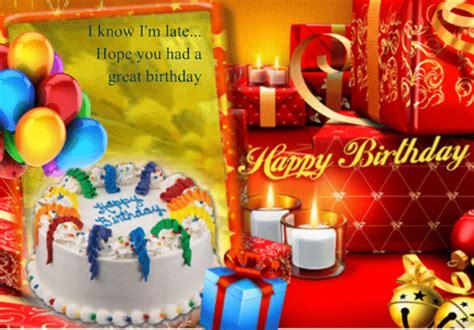 belated birthday card  belated birthday wishes ecards