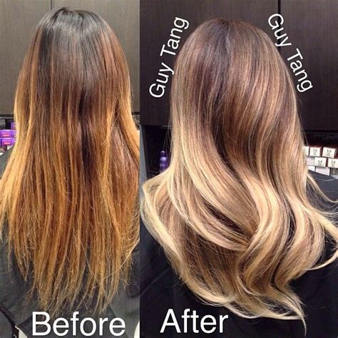 Shimmer Lights Shoo Before And After by 40 Fabulous Ombre Balayage Hair Styles 2019
