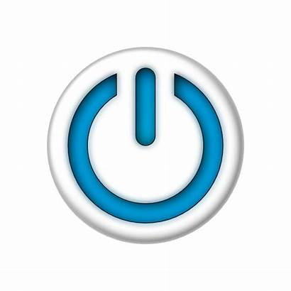 Button Power Sign Clip Activate Clipart Graphic