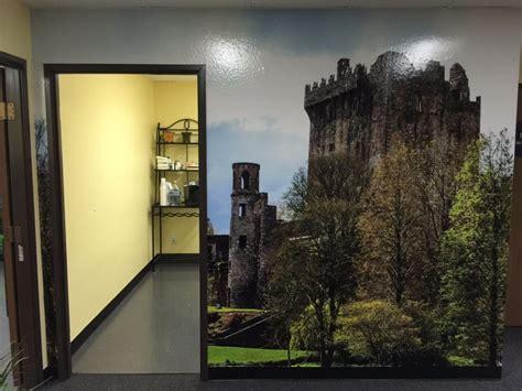 wall floor graphics black parrot