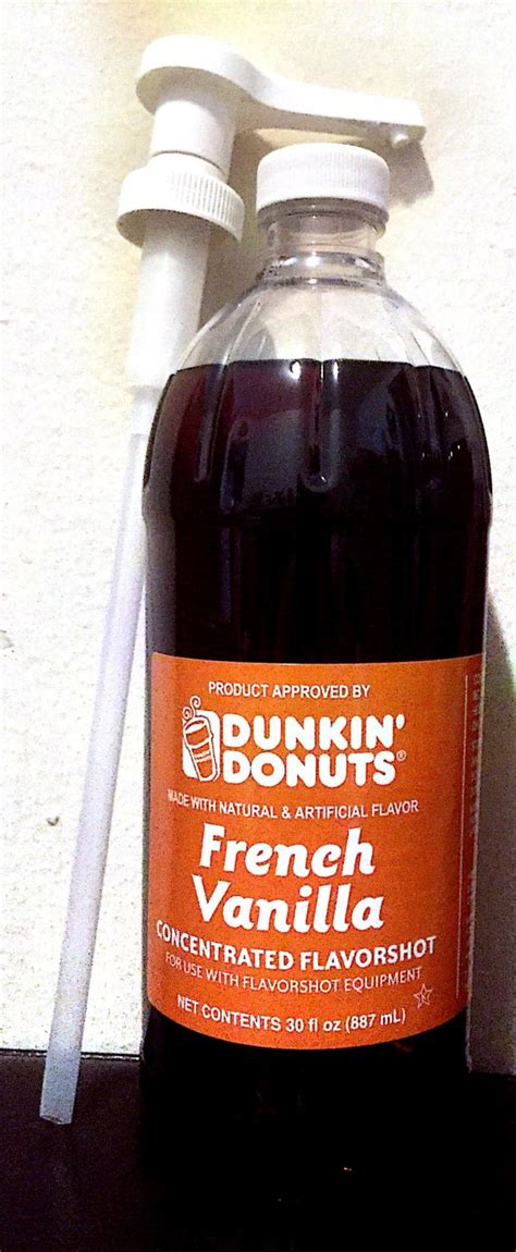 And for a truly classic flavor, it sure breaks the mold. Dunkin Donuts Unsweetened French Vanilla Flavor Shot 30oz ...