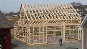 post and beam barn raising time lapse youtube With amish post and beam barns