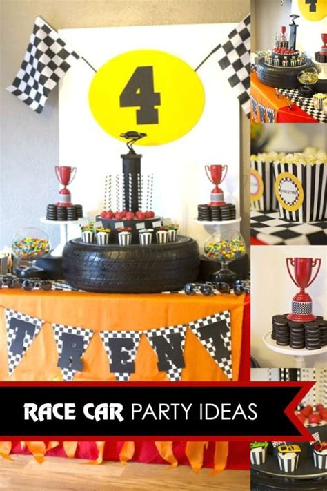 rad race car themed  birthday party spaceships