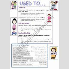 Used To  Grammar & Practice  Esl Worksheet By Nikabike