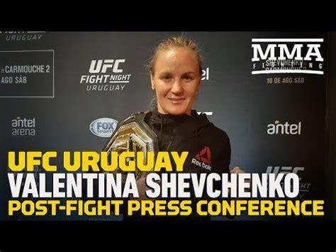 Valentina shevchenko — goat (female) fighter. UFC Uruguay: Valentina Shevchenko Post-Fight Press ...