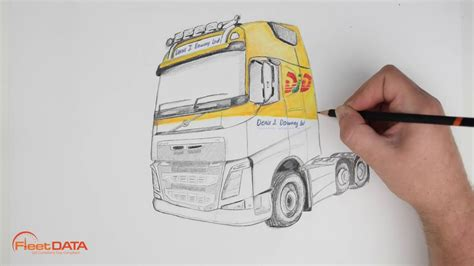 volvo fh speed drawing youtube