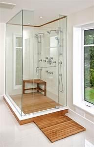Teak shower bench and mats home design ideas pinterest for Teak tiles bathroom