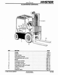 Hyster Challenger H30h  H40h  H50h  H60h  D003  Forklifts