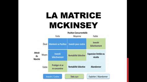 LA MATRICE McKINSEY en clair - YouTube