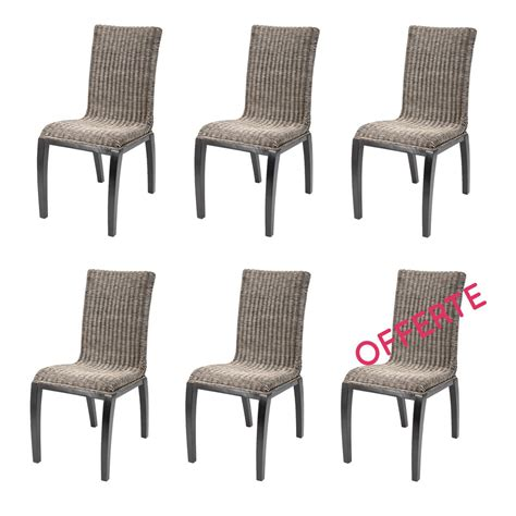 chaise pas cher lot de 6 lot 6 chaise rotin pas cher table de lit