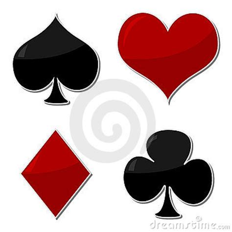 playing cards symbols royalty  stock image image