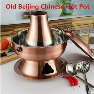 beijing chinese hotpot traditional stainless steel large copper charcoal pot ebay