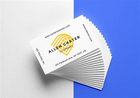 realistic business cards mockup  graphicburger