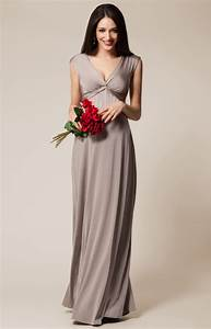 clara maternity gown long mocha maternity wedding With robe de grossesse pour ceremonie