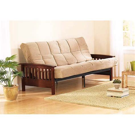 50 inch sofa bed mainstays wood arm full size futon arms box 3 of 3