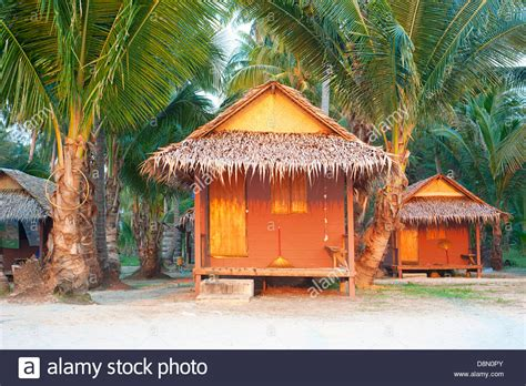 Bamboo Bungalow On The Beach Of Koh Chang Island, Thailand