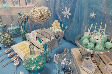 blue theme party candy table ideas table decorating ideas