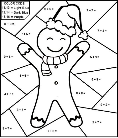 1st grade math addition coloring worksheet free printable math coloring pages for best