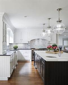 white cabinets with black island transitional kitchen With kitchen colors with white cabinets with large black and white canvas wall art