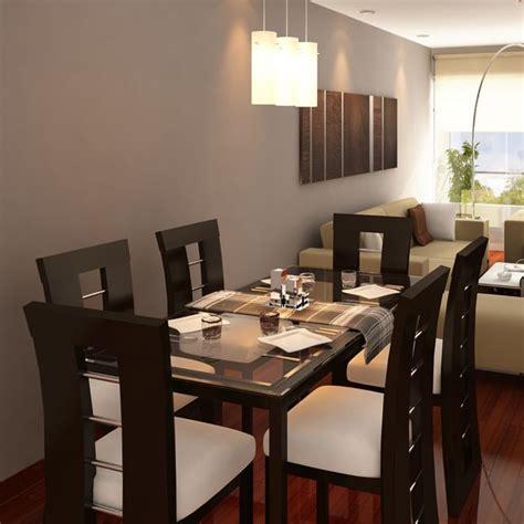 mesa  sillas tapizadas muebles de comedor en
