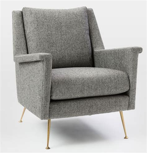 carlo mid century chair at west elm