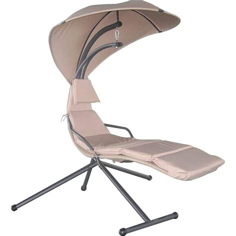 club swing chair with umbrella and polyester fiber