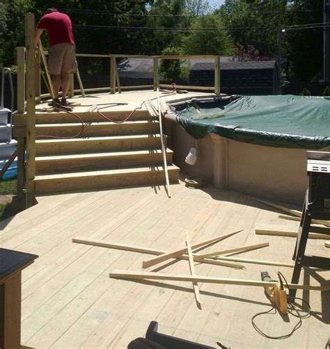 above ground pool steps for decks deck stairs above ground pool deck home