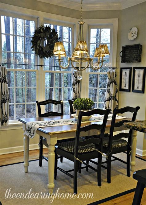 black distressed table and chairs kitchen tour like the black chairs with the white
