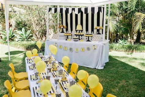 karas party ideas bumble bee themed birthday party kara