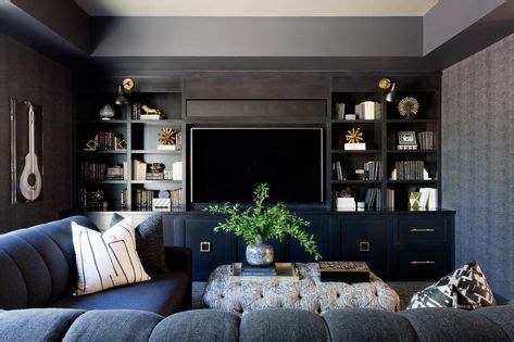tv wall  shelves images family room interior