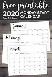 Printable May 2020 Calendar Free Printable 2020 Calendar Monday Start With Images