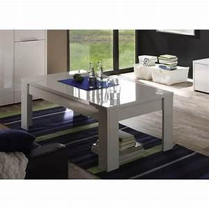 Table Basse Blanche Rectangulaire : table basse rectangulaire design laqu e blanche sybelle ~ Melissatoandfro.com Idées de Décoration