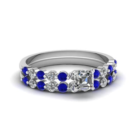 blue sapphire wedding ring sets fascinating diamonds
